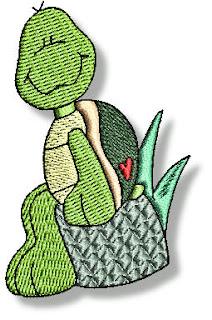 Imágenes Bordadas de Tortugas.