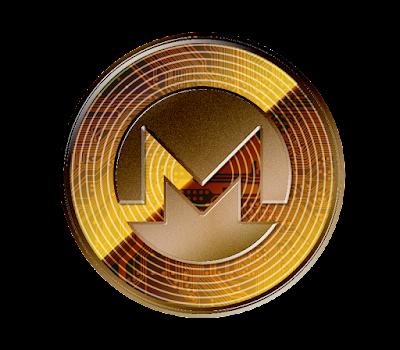 仮想通貨モネロのフリー素材(銅貨ver)