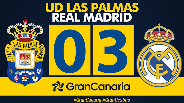 Marcador final UD Las Palmas - Real Madrid