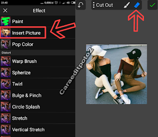 cara edit foto dual tone