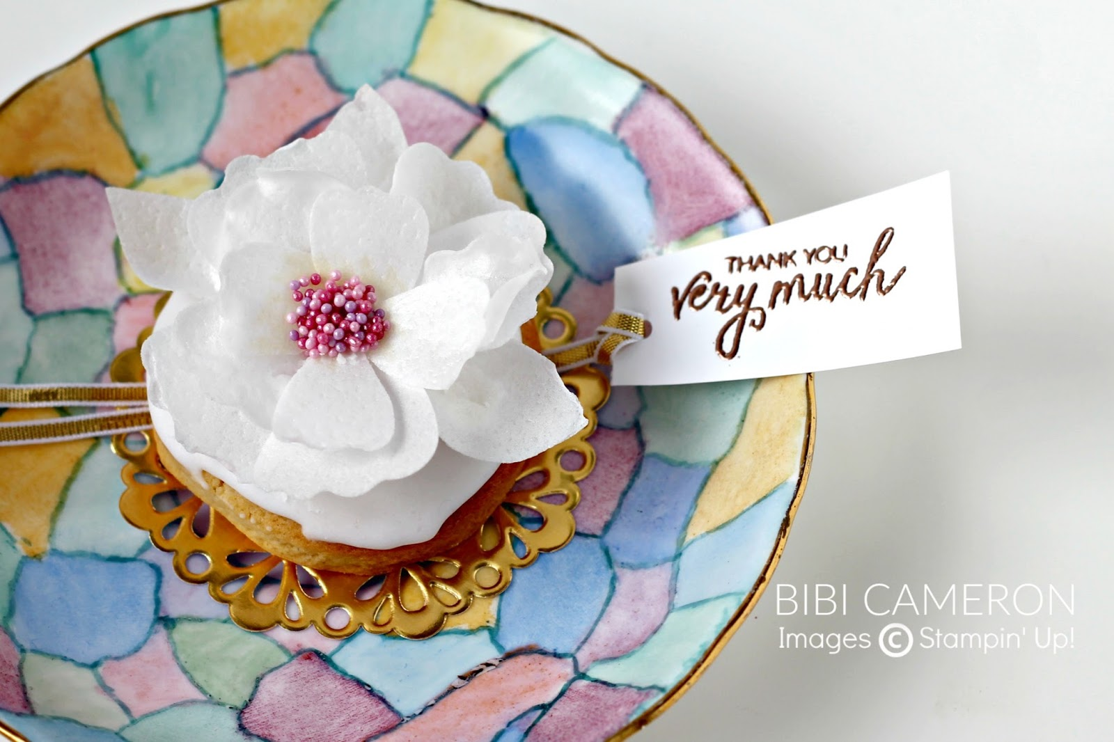Blossom builder punch wafer paper flowers video gdp051 bibi cameron i like to try different things with my stampin up supplies and for the challenge this week on global design project i made wafer paper flowers using mightylinksfo