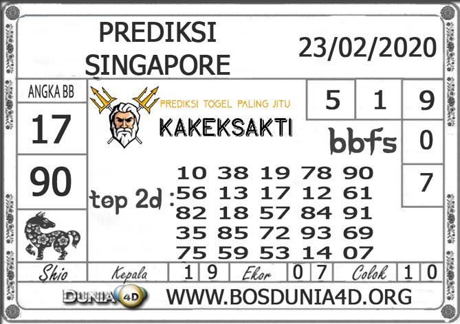 PREDIKSI TOGEL SINGAPORE DUNIA4D 23 FEBRUARI 2020