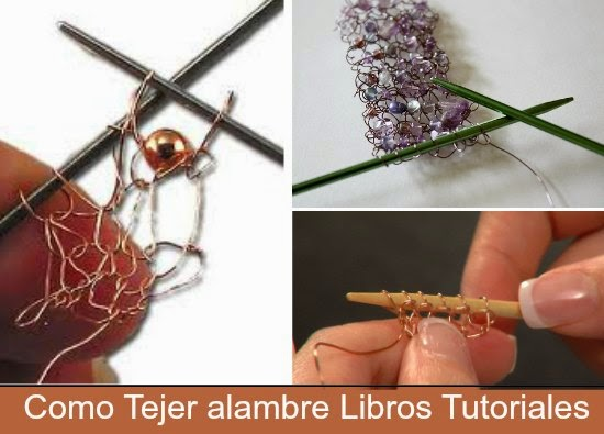 crochet, ganchillo, alambre, bisutería, labores, técnicas, manualidades