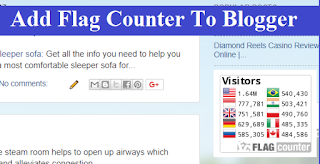 How to Add Flag Counter to Blogger with Pictures
