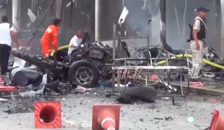 ataque con bombas en centro comercial de Tailandia