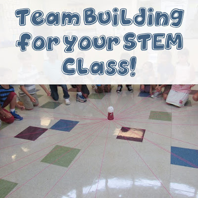 Team Building for STEM Challenges! Here are several ideas to use to get your STEM class going!