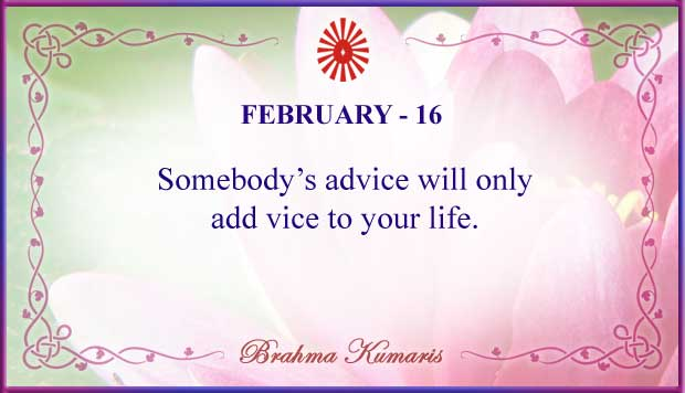 Thought For The Day February 16