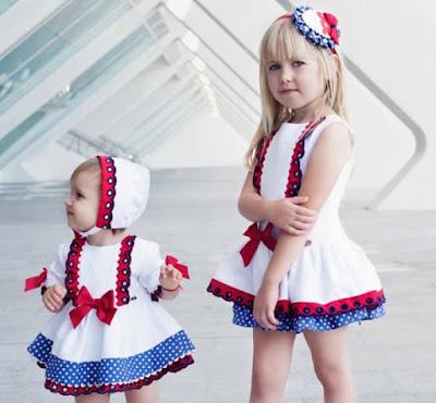 Nueva coleccion de vestidos y jesusitos de niñas de Dolce petit