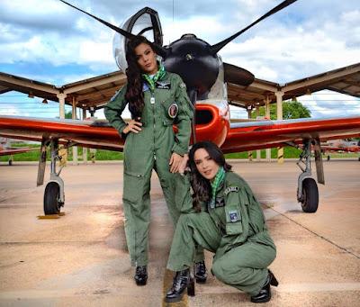 Juliana Olimon e Gabe Cardoso foram madrinhas de turma da AFA — Foto: Arquivo Pessoal