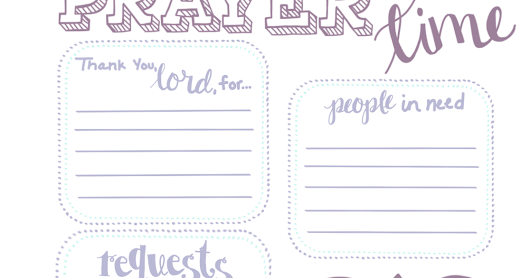 Prayer Time Printable