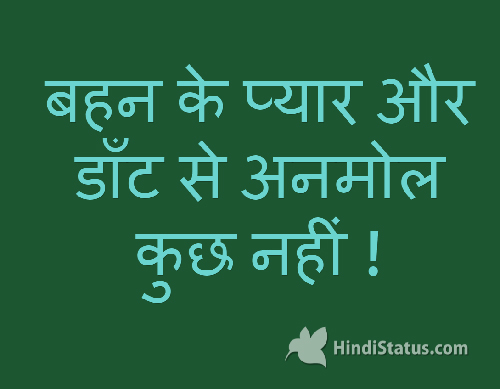 Sister Scolding And Love Hindi Status The Best Place For Hindi