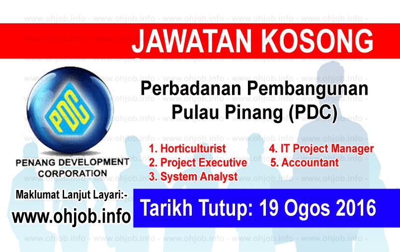 Jawatan Kerja Kosong Perbadanan Pembangunan Pulau Pinang (PDC) logo www.ohjob.info ogos 2016