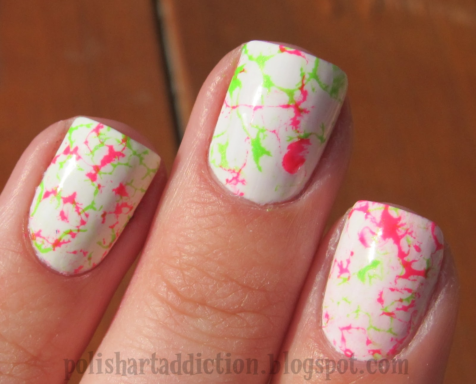 Neon splatter/shredded/hair spray marble