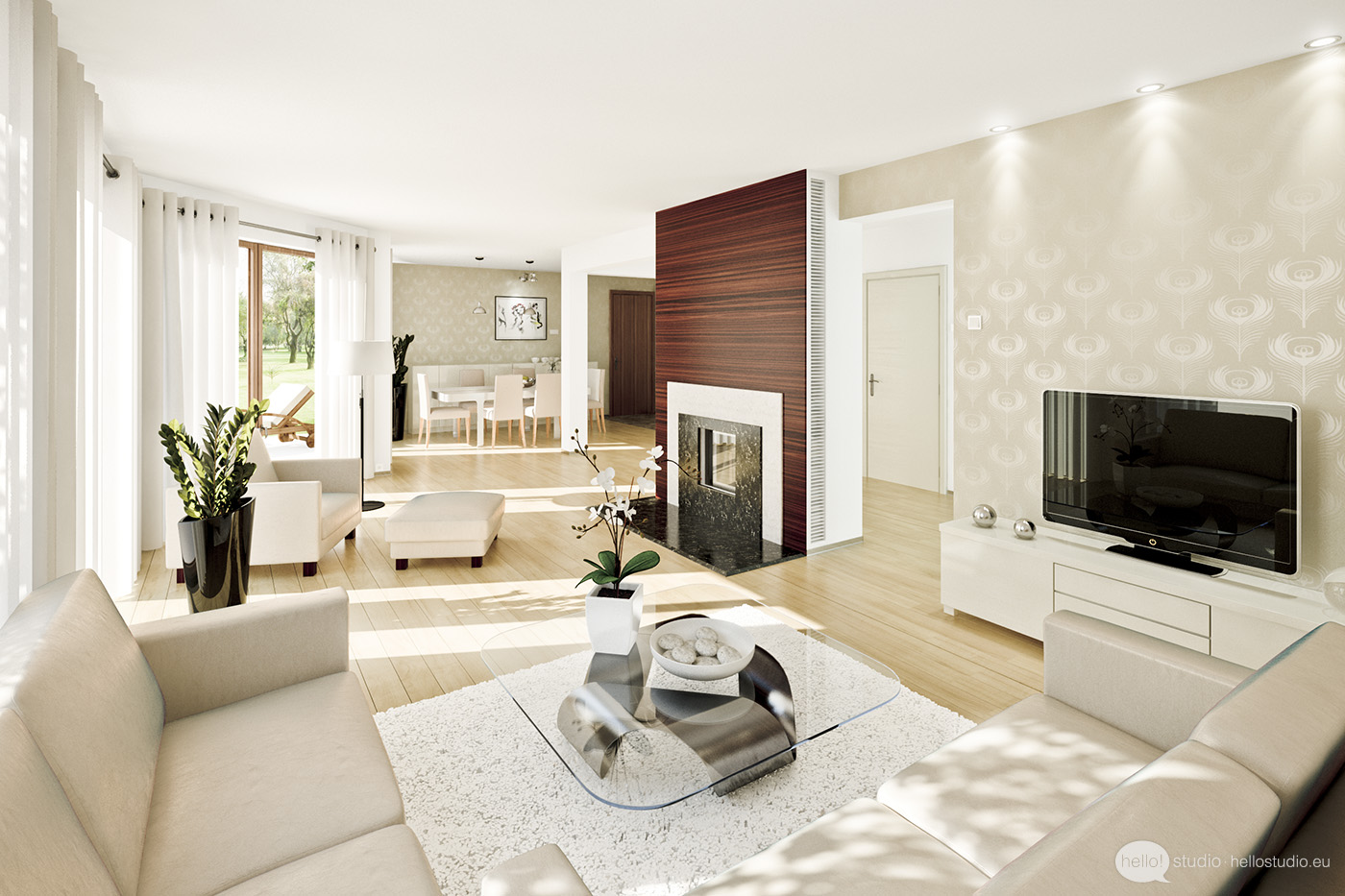 Wonderful white living room interior ideas wonderful - Interior design styles living room ...