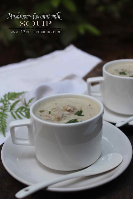 Mushroom Coconut milk Soup