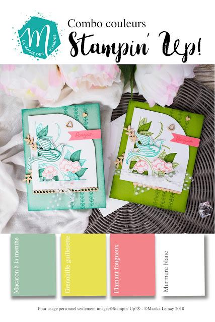 Combinaisons de couleurs à imprimer Stampin' Up!