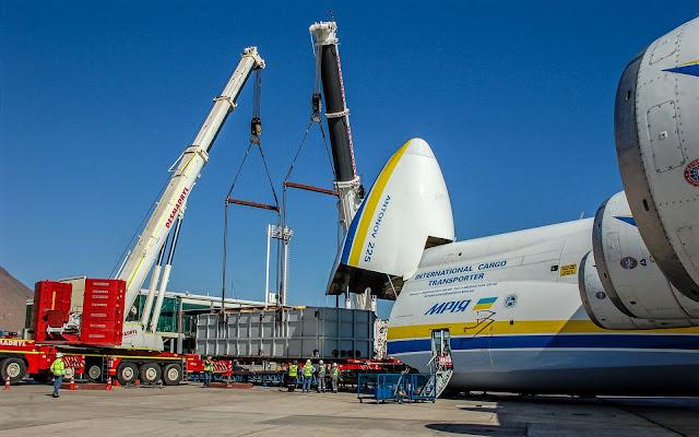 An-225 Unloads Generator