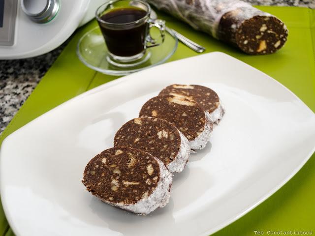 Salchichón de chocolate con Thermomix