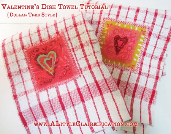 Valentine Craft Dish Towels Dollar Tree Syle