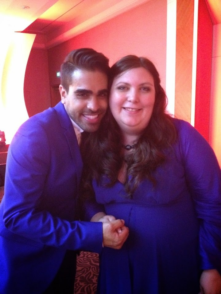 Dr Ranj from Get Well soon and Jen at the MAD Blog Awards 2014