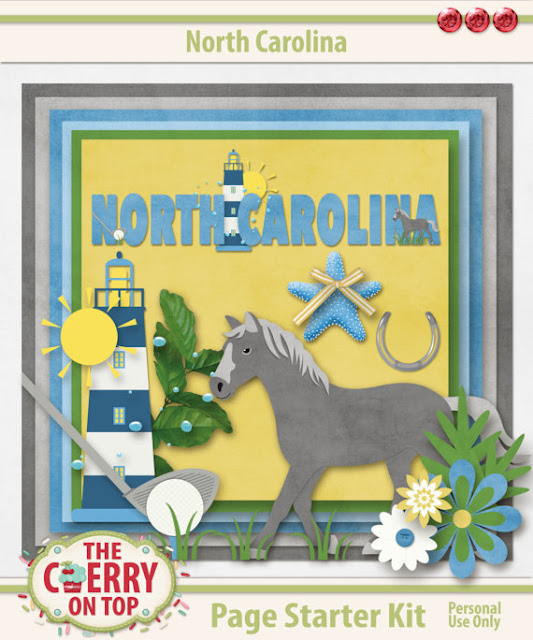 North Carolina Scrapbooking Kit