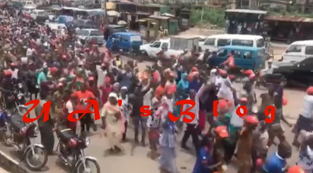 VIDEO: Protest in Osun over Tinubu's comment