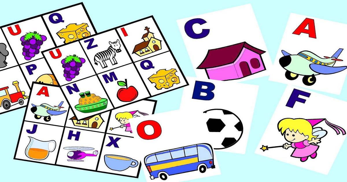 Bingo Trabalhando O Alfabeto De Forma Ludica So Escola