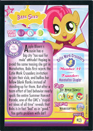 My Little Pony Babs Seed Series 2 Trading Card