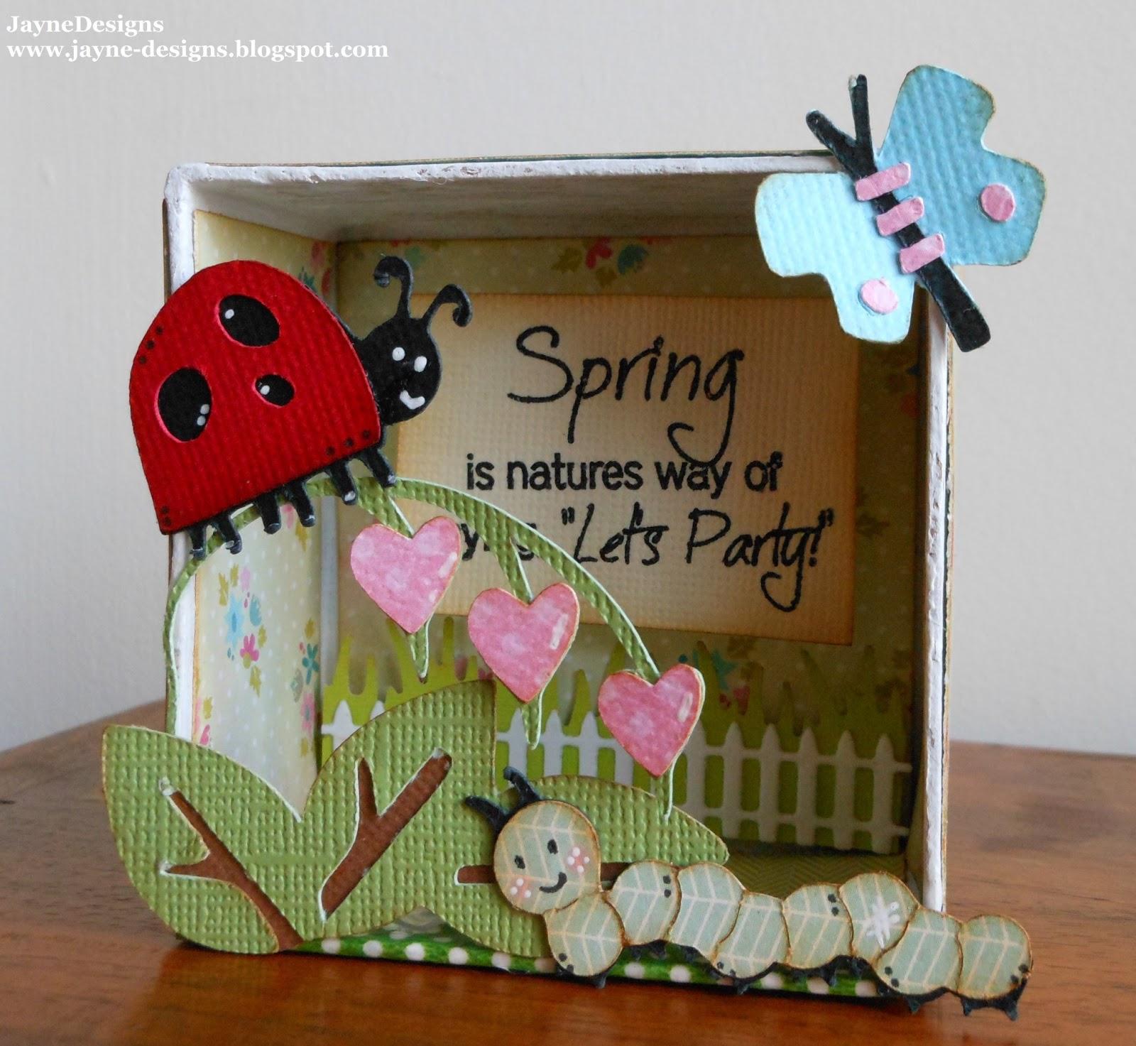 Walk In Garden Box: JayneDesigns: Spring Box