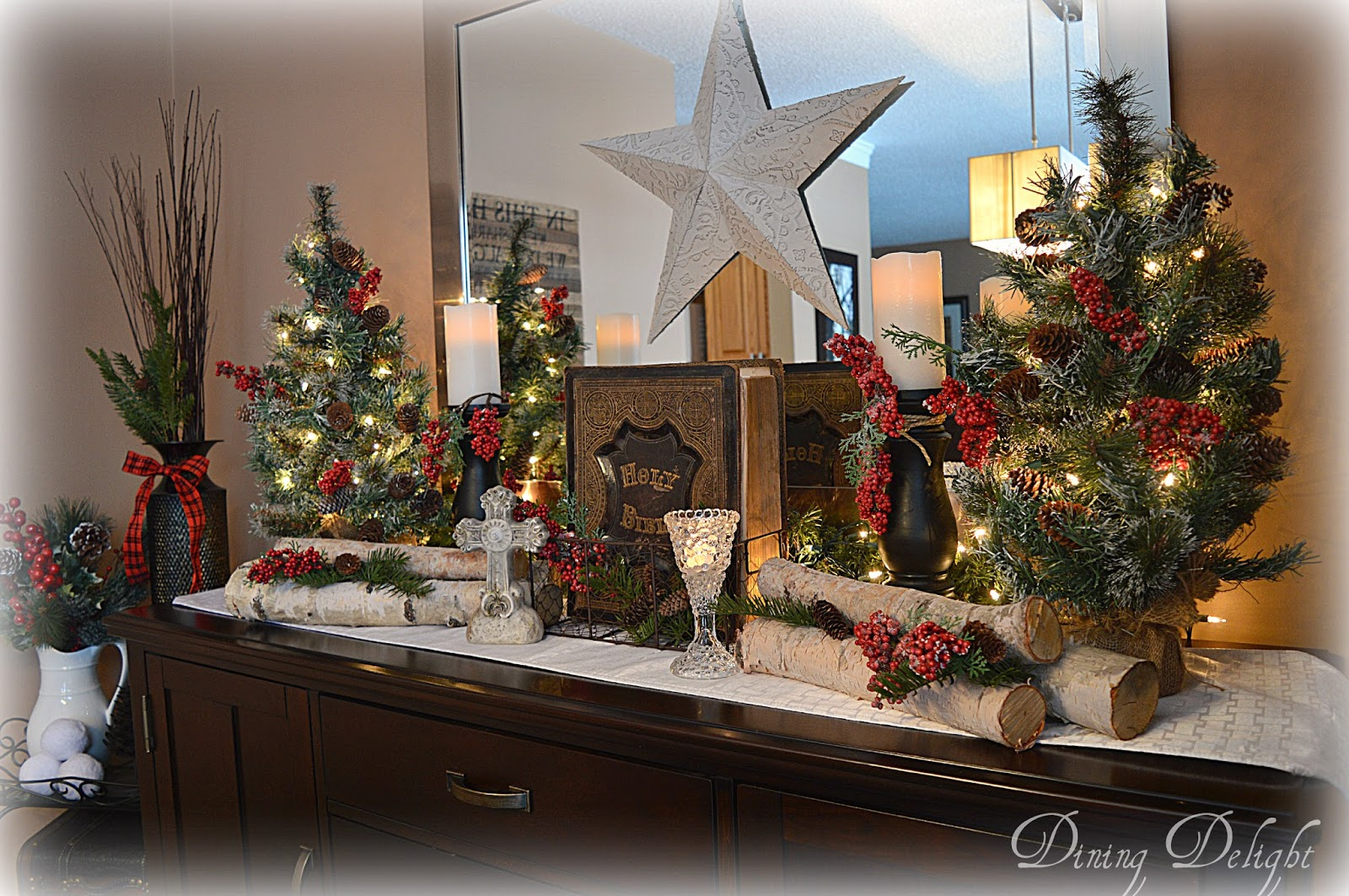 Dining Delight Rustic Christmas Sideboard