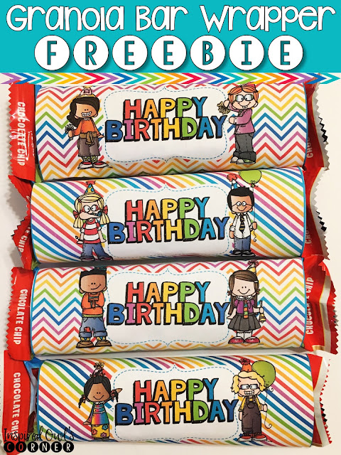 FREEBIE Happy Birthday Granola Bar Labels