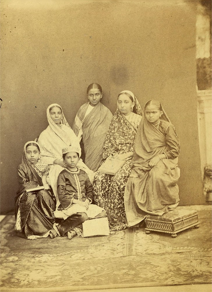 Group of Students from the Alexandra Native Girls' Institution at Bombay (Mumbai) in Maharashtra 1873