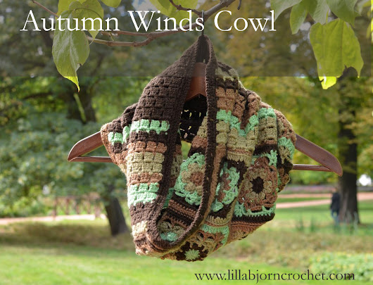 Autumn Winds Cowl: free crochet pattern