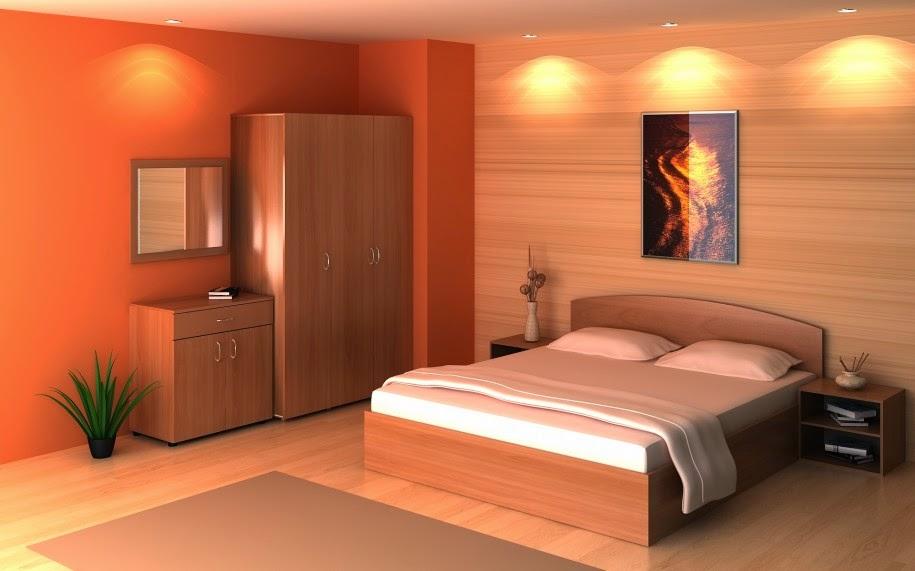 Elegant Moderne Decoration Pour Chambre Orange