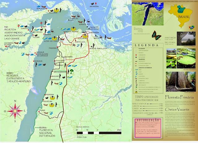 Mapa turístico de Santarém - Pará