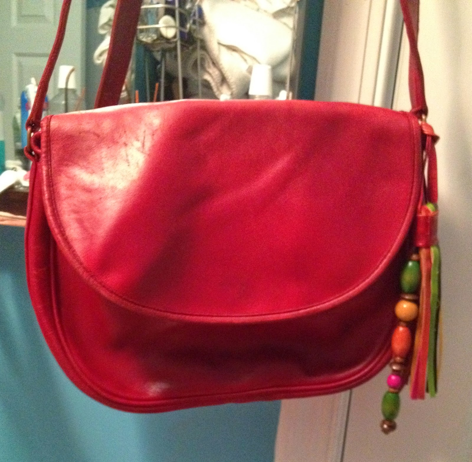 Vintage Red Coach Crossbody Bag Rescued From Goodwill And