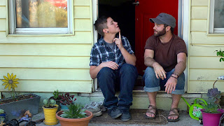 Ben and Joe on porch (Real Boy)