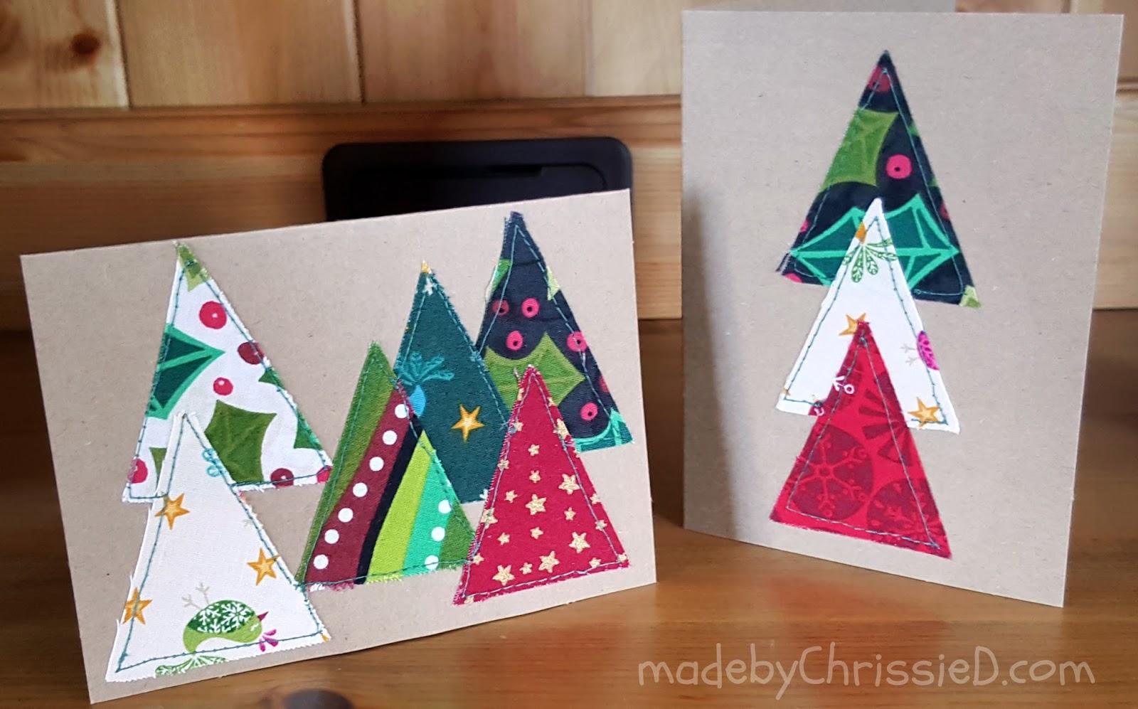 fabric christmas cards handmade