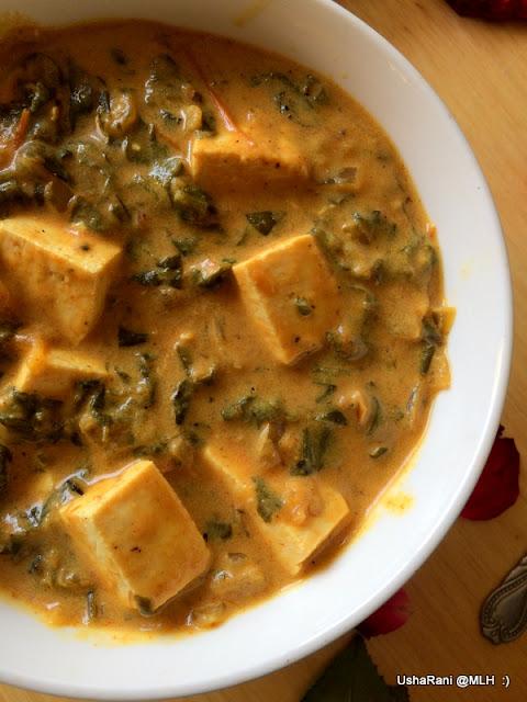 Palak Paneer Recipe Padhus Kitchen