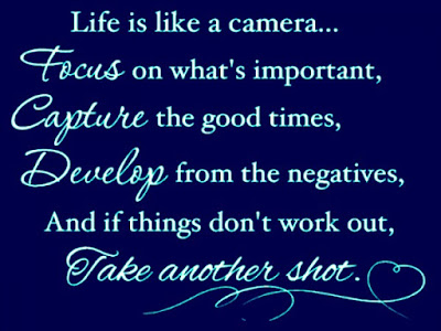 most beautiful life is like a camera.