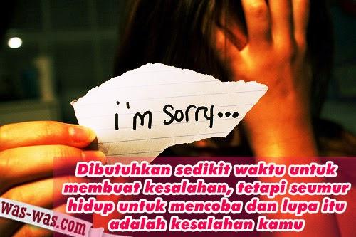 """Kata Mutiara Maaf  yang baik"""