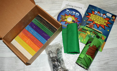Flatlay showing the contents of the Zu3D Animation Kit