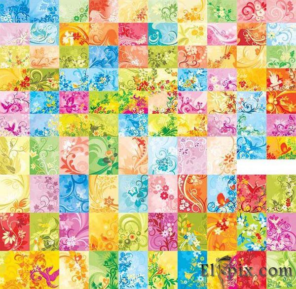 100 Floral backgrounds vector CorelDRAW