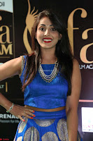 Madhu Shalini Looks Super Cute Slim trim Blue Choli Ghagra IIFA Utsavam Awards 37.JPG