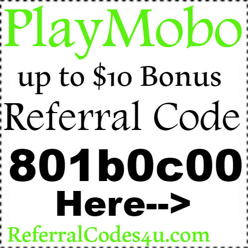 $10 Bonus PlayMobo App Referral Code, Sign Up Bonus and Reviews 2018-2019