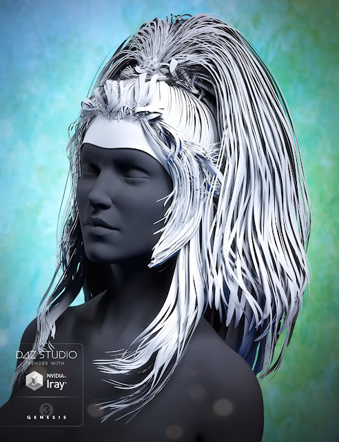 Twilight Hair for Genesis 3 Female