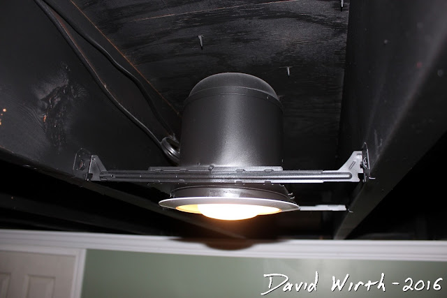 paint ceiling can lights, how to, black ceiling