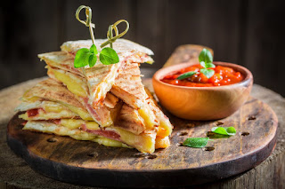 Ham And Mushroom Quesadillas