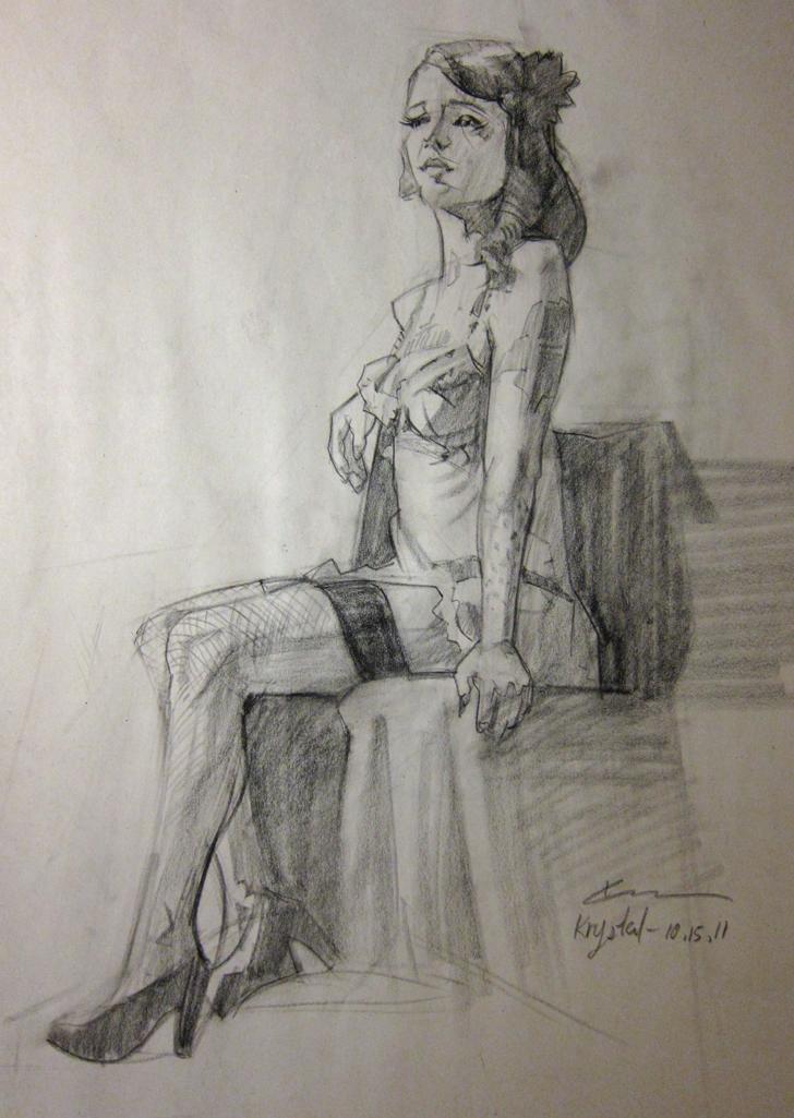 Sketchblog Chris Chien Sleep Deprived Model Plein Air Painting