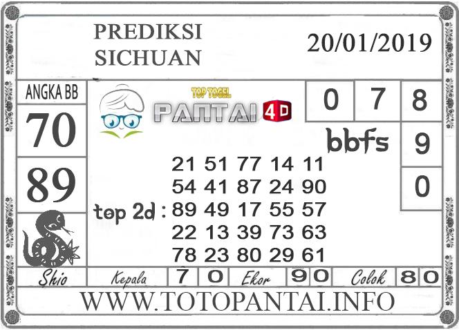 """Prediksi Togel """"SICHUAN"""" PANTAI4D 20 JANUARI 2019"""